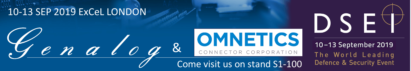 Genalog Ltd and Omnetics Connector Corp are at DSEI Exhibition 2019